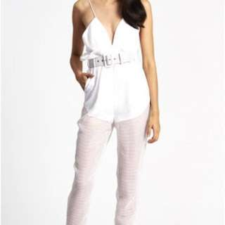 Alice McCall- Justify My Love white jumpsuit size 6