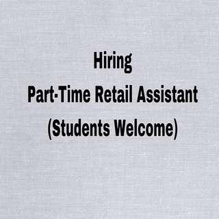 Part Time Retail Assistant