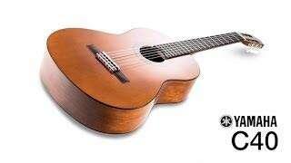 Yamaha classical guitar natural C-40