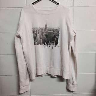 Oversized White NY Sweater