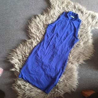 Blue kookai high neck dress