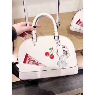 Coach Mini Sierra with Cherry Embroidery super cute!