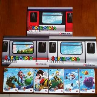 港鐵紀念車票超級瑪利歐銀河2🖐2011年1月31曰👉6張卡: 三張紙板👉共9張