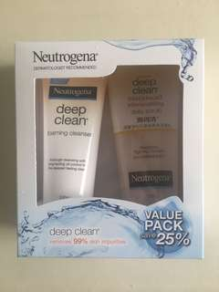 Neutrogena deep clean set