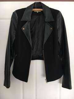 Bettina Liano leather look jacket. Size 8