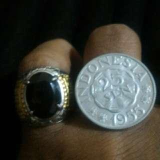 Smoky quartz stone (free gift old coin)