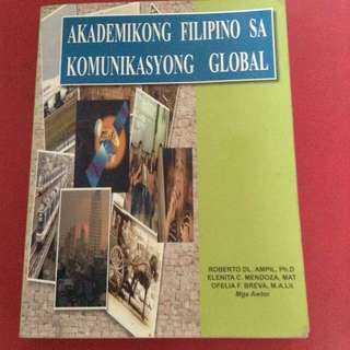Akademikong Filipino sa Komunikasyong Global