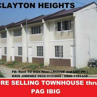 Calyton heights pinakamurang townhouae in rizal