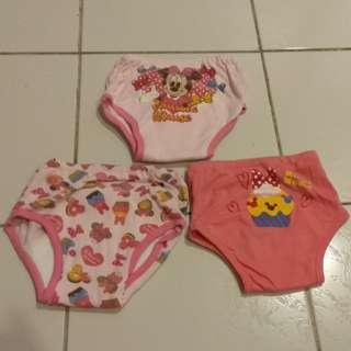 (3 Pcs) Potty Training Pants - Pink Series