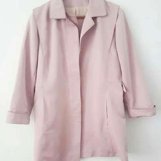 Trench Coat Pastel Pink