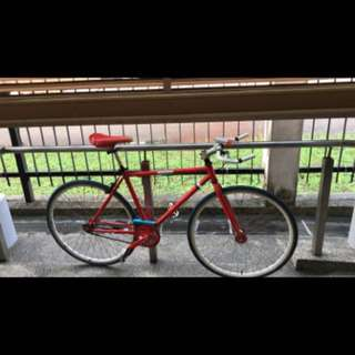 Red Fixie Bicycle