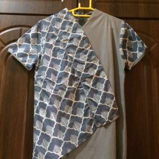Beatrice Grey Batik Shirt