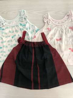 Baby cotton tops