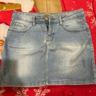 Rok span jeans stradivarius ori