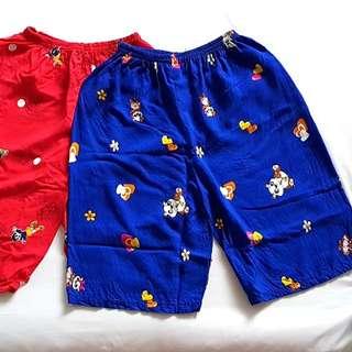 2for$4 Daily shorts for Mummy. Doraemon & Panda print