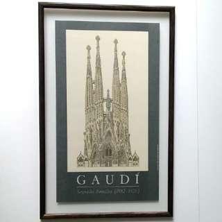 西班牙建築師Antoni Gaudi透明玻璃掛畫(共有4款,每幅$500)