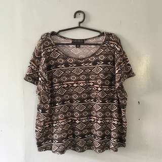 F21 plus knitted aztec shirt