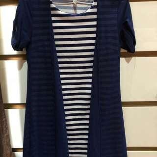 Dress salur/gardigan blue