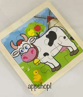Cow wooden puzzle- goodies bag, goody bag gift