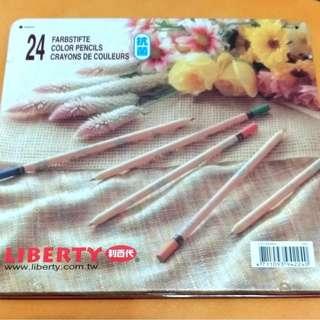 利百代24色抗菌色鉛筆。近全新。無削過。加增12色色鉛筆