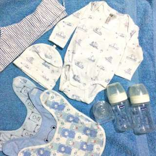 Chicco and H&M bundles 0-3mos