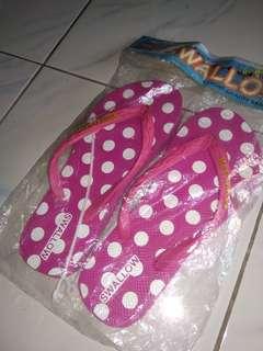 sandal polkadot - pink