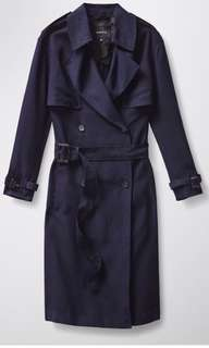Aritzia Babaton Nicky Trench Coat - Navy Blue - Size Large - New with Tags