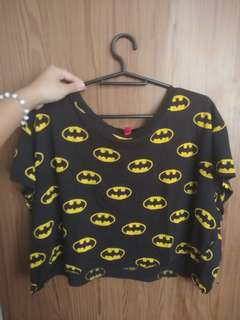 Flowy batman crop top