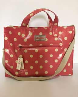 Authentic Cath Kidston (London) - Button Spot Open Carryall with Strap