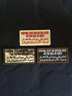 Caution! Velcro iLBV morale patch