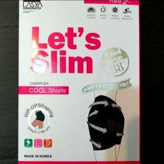 Let's Slim AQUA-X冰絲提臀安全褲-白色。全新