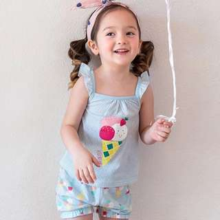 Ice Cream Sleeveless 2pcs Set