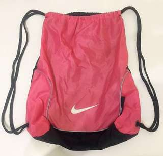 Nike Pink Drawstring Backpack