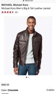 MICHAEL KORS | Large | Men's Big & Tall Leather Jacket