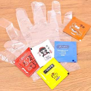 5 For RM10 !! Creative Novelty Disposable Hand Gloves