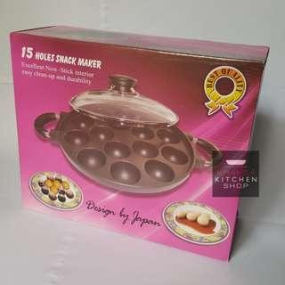 Snack Maker Cetakan Kue Takoyaki Poffetjes 15&19 Lubang harga promo