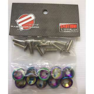 Fender Washer Neo Chrome Color