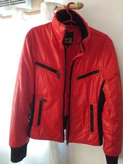 Red jacket for riding