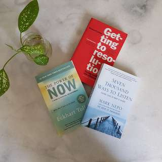 3 x Assorted Self-Help Books