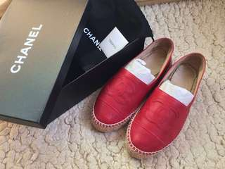 Chanel Espadrilles slip on Shoes 漁夫鞋草鞋平底鞋