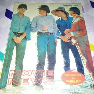 THE BEATLES SINGAPORE MOVIE NEWS MAGAZINE 1965