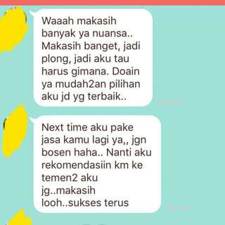 Testimoni Online Tarot Reading with Nuansa Lightgivers