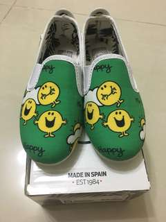 Flossy Mr Happy shoes for kids