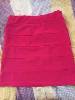 Pink bandage skirt