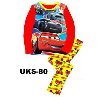 Lightning Mcqueen Long Sleeve Pyjamas For (2 Yrs To 7 Yrs)