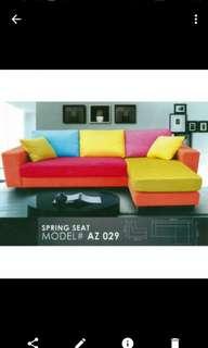 Price Reduce. L-Shape Rainbow Sofa. Limited edition