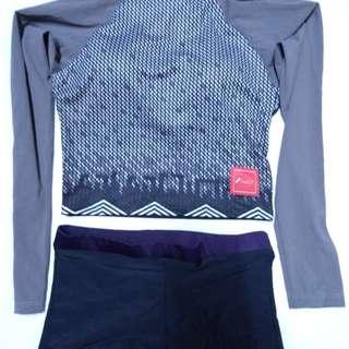 Cropped Rash Guard Set Malia / Swimsuit / Swimwear