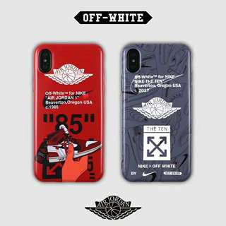 Off White x Jordan Phone Case For iPhone 6/7/8/X