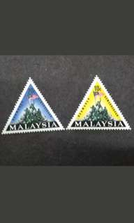 "Malaysia 1966 National Monument ""Tugu Kebangsaan Negara"" Complete Set - 2v MH Stamps"