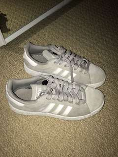 ADIDAS Grey Campus Sneakers SIZE 7